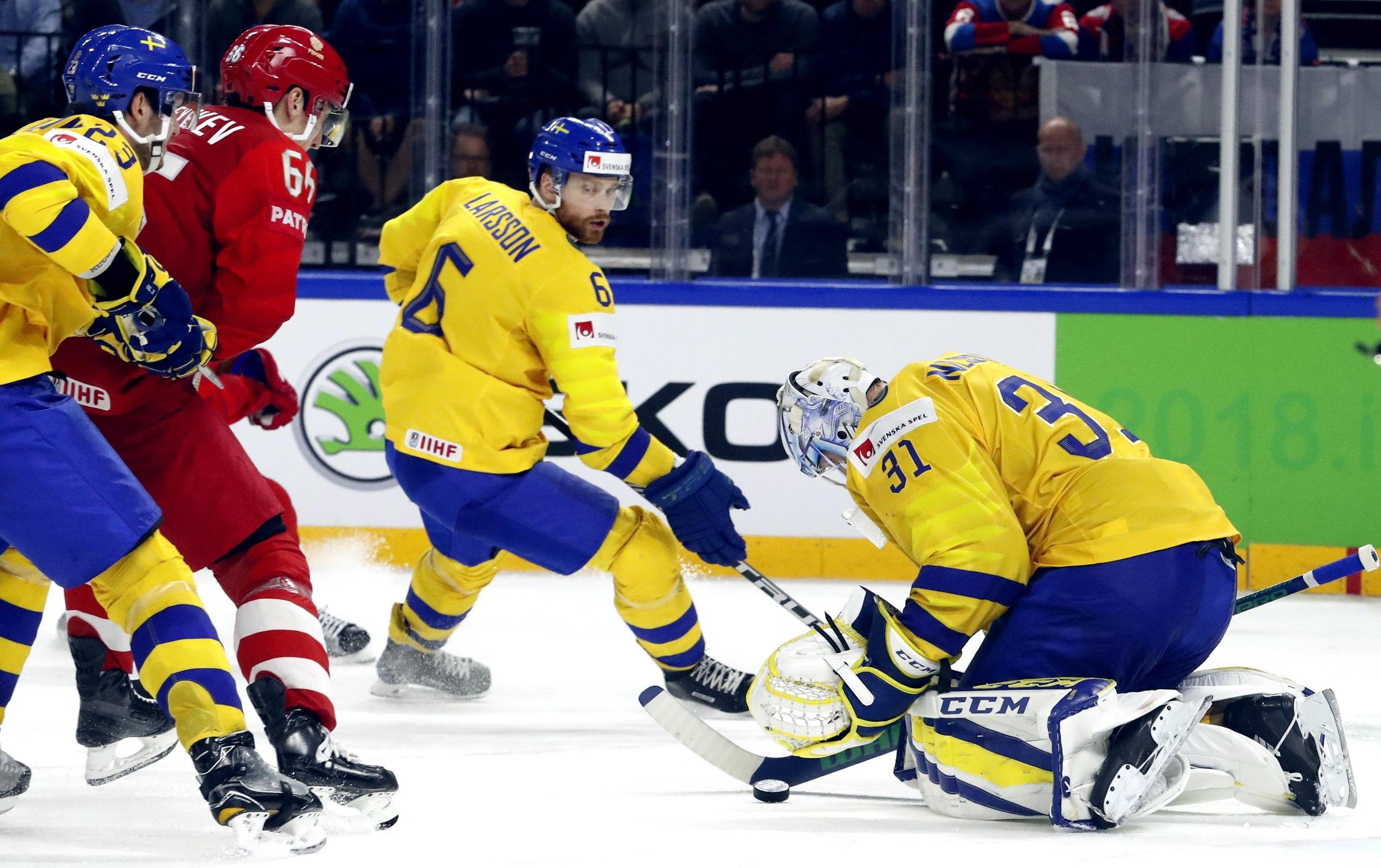 Завершился матч Россия — Швеция на ЧМ по хоккею в Дании
