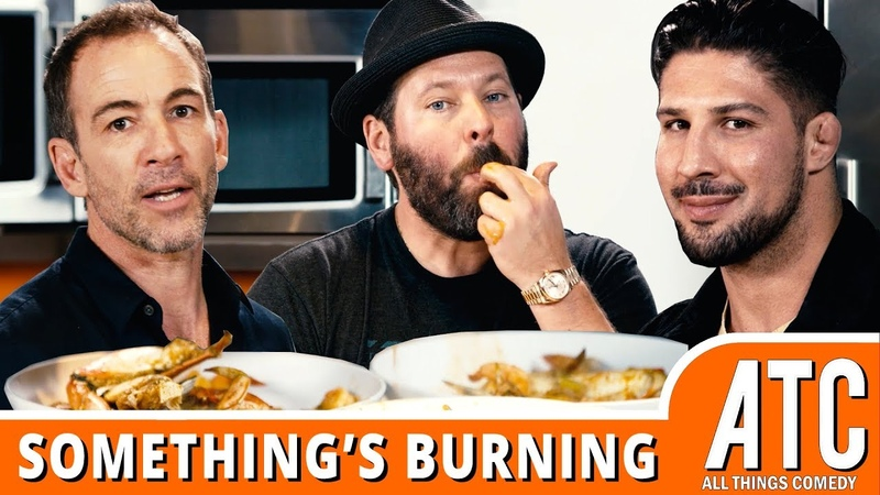 CIOPPINO! Bert Kreischer with Fighter The Kid Bryan Callen Brendan Schaub SOMETHINGS BURNING