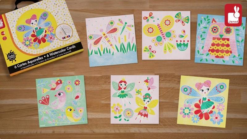 Набор для творчества Феи акварель: 6 карточек