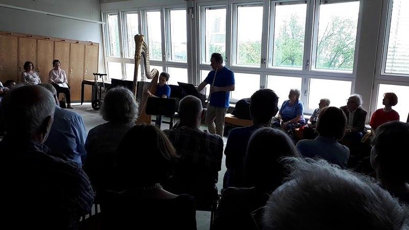 Marie-Pierre Langlamet (Harfe), Emmanuel Pahud (Flöte)