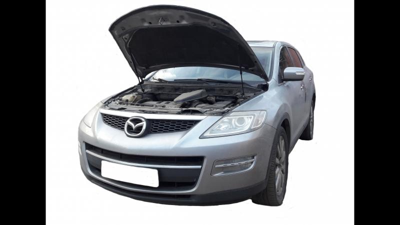 Установка газового упора капота Mazda CX9