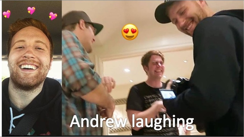 Andrew laughing for almost 30 minutes (TRY NOT TO LAUGH, SMILE OR FALL IN LOVE)