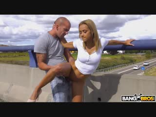 Publicbang veronica leal fucking veronica s ass on a highway bridge new porn 2018