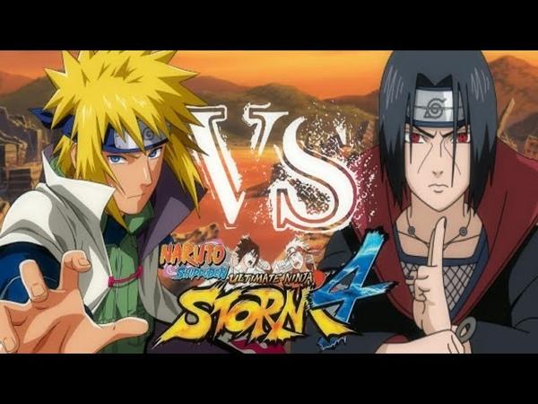 Minato Namikaze VS Itachi Uchiha - Naruto Shippuden Ultimate Ninja storm 4 [PT - BR]