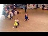Дети-1 Ваймер Матвей и Пашина София двоеборье (6 т), открытый класс Квикстеп