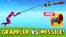 *NEW* GRAPPLER GUN vs GUIDED MISSILE!? (Fortnite FAILS WINS 21)