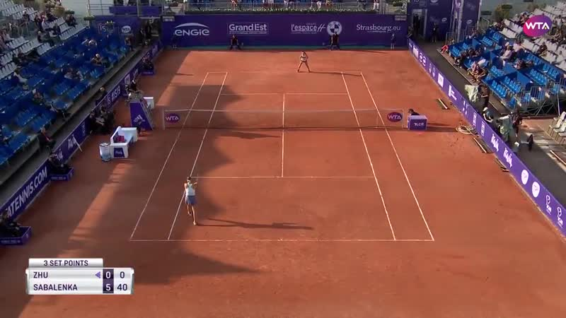 Second-seeded @SabalenkaA has the perfect start to her @WTA_Strasbourg campaign! - - She takes the first set over Lin, 6-0