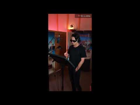 Melovin во время озвучки мультфильма Монстры на каникулах 3 мини интервью