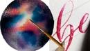 РИСОВАНИЕ МАРКЕРОМ АКВАРЕЛЬ ВОДНОЕ РИСОВАНИЕ КАЛЛИГРАФИЯ ЛЕТТЕРИНГ 3D рисования 26 🌈арт, акварель, леттеринг, каллиграфия, рисование, учимсярисовать, какрисовать, художники