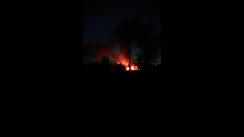 пожар в деревне ненашево