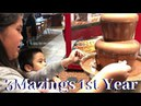 3mazings 1st Year Anniversary. kids ate chocolate fondue, ice cream, cotton candy and more