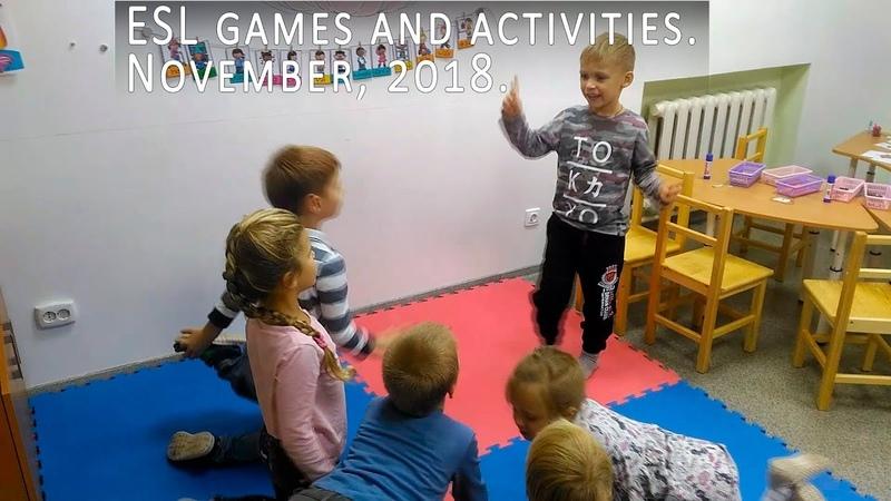 ESL games and activities | Самые яркие игры в ноябре 2018 | Старшая группа