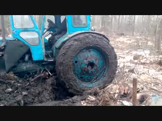 как быстро утопить трактор в болоте)