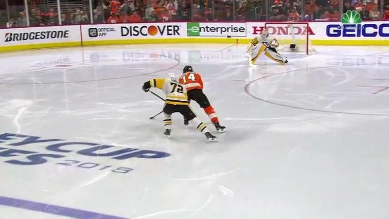 4-й гол Шона Кутюрье в плей-офф Кубка Стэнли 2018 НХЛ. Филадельфия - Питтсбург 6-я игра. 23.04.2018