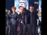 here's a short compilation of seokjin getting scared when the confetti goes off someone pl