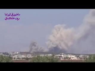 New video of the strikes around Kafar Zeta Hama CS.