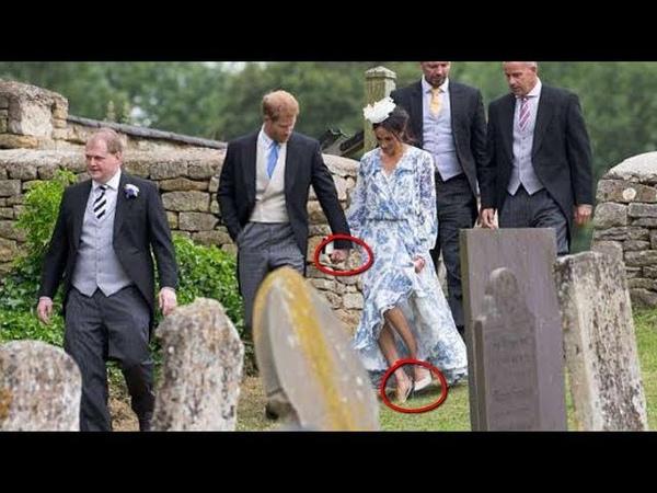 OMG, Look Harry's Hand Saves Meghan From AWKWARD STUMBLE