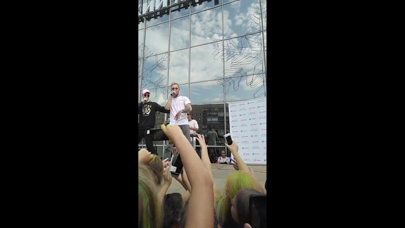 Выступление Никиты, в Бийске - ТРЦ Ривьера (20.07.2018)