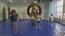 Тренировка детей. Школьники. Отработка связок. Нога-щит-нога. Тренер Ратманский С.И.
