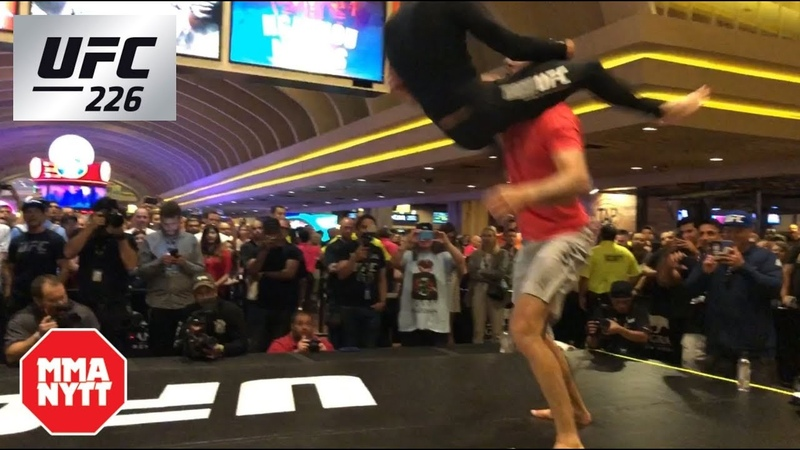 Brian Ortega SICK Flying Triangle Choke UFC 226 Open Workout