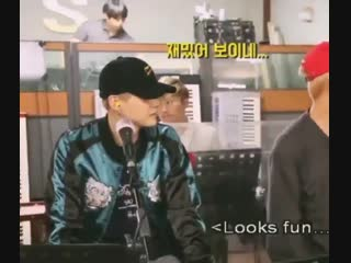can we talk about yoongi copying taehyung's dance and how the editors added squishy sounds