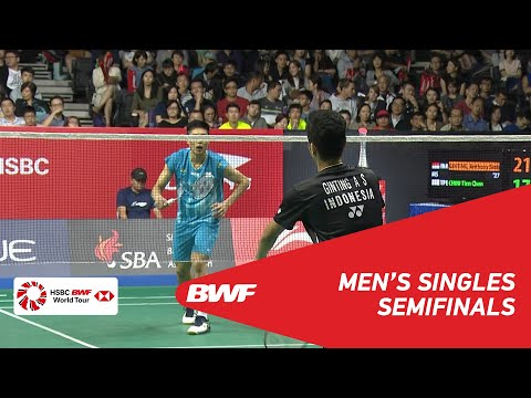 SF | MS | Anthony Sinisuka GINTING (INA) [7] vs CHOU Tien Chen (TPE) [2] | BWF 2019