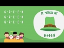 G-R-E-E-N St Patricks Day _ Song Lyrics Video for Kids _ The Kiboomers