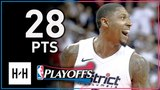 Bradley Beal Full Game 3 Highlights Wizards vs Raptors 2018 Playoffs - 28 Points!