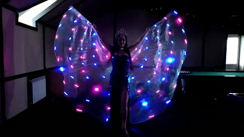 Алесья Рахматуллина Танец со светодиодными крыльями