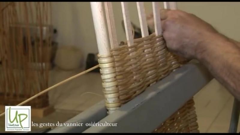Conservatoire Dynamique des Gestes Techniques gestes du vannier, fabrication dun panier, le fond