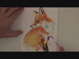 How to paint a little fox in watercolours.20151023