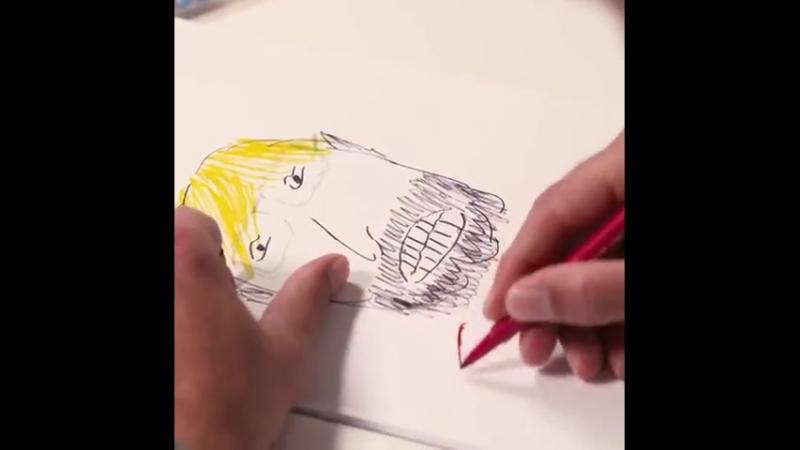 Юрген Клопп рисует себя