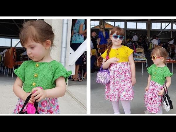 Metoda raglan pas cu pas Rochita tricotata детская платья комбинированая