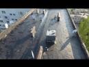 Курчатова 6 Начали улаживать первый слой рубероида над вторым подъездом