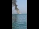 Катер сгорел дотла в Николаевке Крым