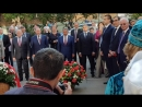 Церемония возложения цветов к памятнику Габдулле Тукаю