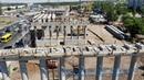 4К / Строительство многоуровневой развязки на трассе М-5 Тольятти Togliatti Russia