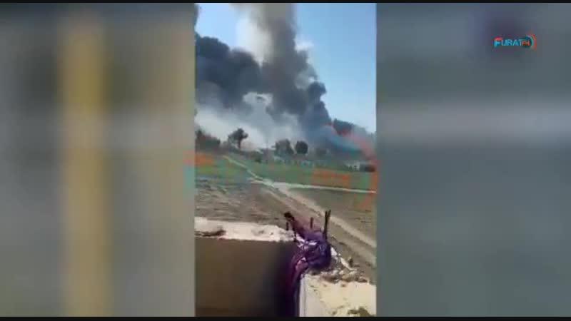 Кадры столкновений между курдскими СДС и ИГ в аль-Багуз.