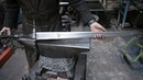 Forging a pattern welded multi-fullered Witcher 3 sword, part 3.