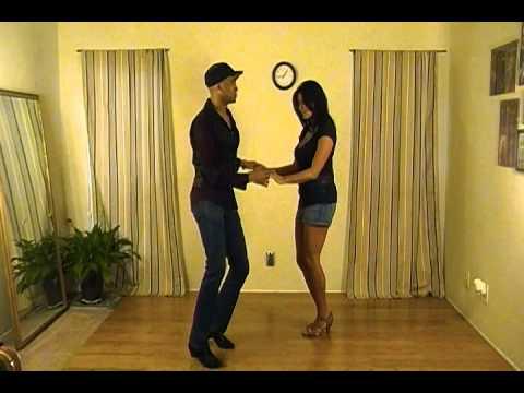 Jay Stylz Darlene Balducci showing a Side Cross for Bachata! salsa dallas lessons classes Bachata