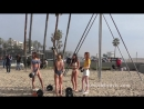 Сара Сампайо, Хейли Болдуин и другие модели на фотосессии для «Tommy Hilfiger», пляж Венис (08/02/17)
