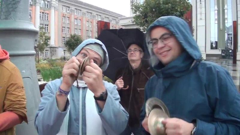 Харинама в Екатеринбурге в дождь 6 10 2017 Эпизод 2