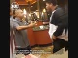 В американском кафе произошла драка охранника и посетителя