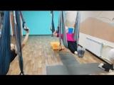 Группа здоровья в гамаках 55+. г.Магнитогорск, студия-йоги