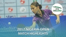 2017 Nigeria Open Highlights Bernadette Balint vs Giorgia Piccolin U21 Final