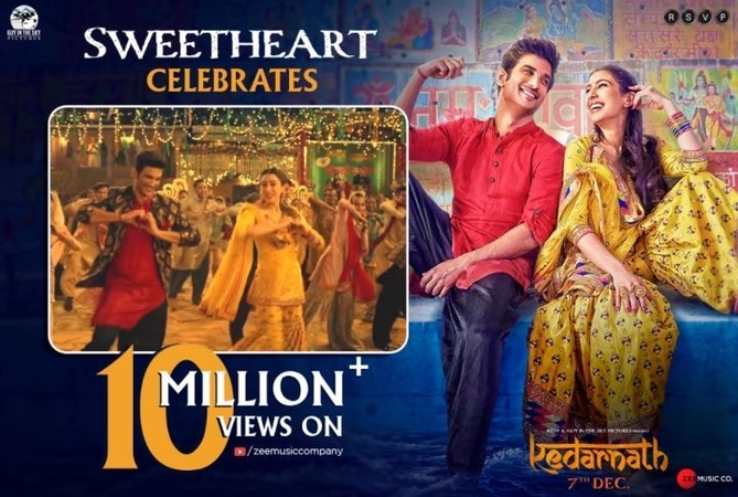 """RSVP Movies on Instagram: """"Continuing to rule the @Youtube trends, our Sweetheart celebrates 10Million views! Tune in now to join the bandwagon! ..."""