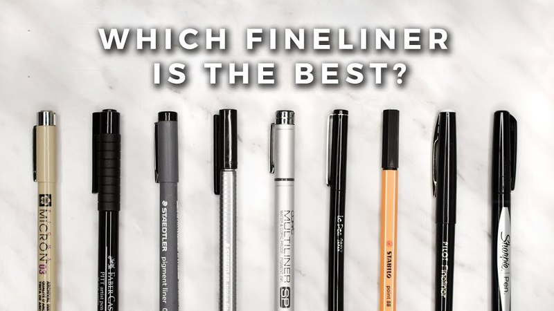 Which Fineliner is the Best STATIONERY SHOWDOWN