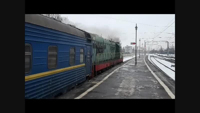 ЧМЭ3т - 6885 с пассажирским составом, Витебское направление