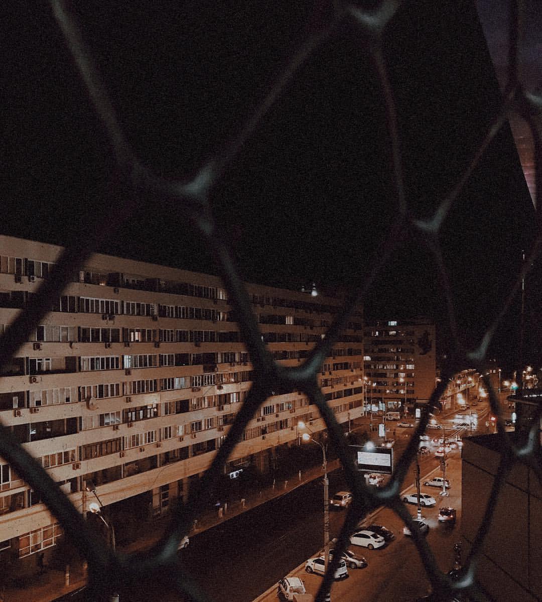 Ночной Волгоград.