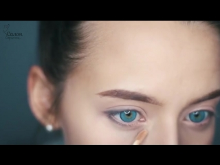 Яркий макияж для голубых глаз